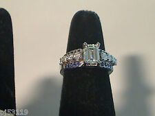 Custom Designed--Platinum  Semi mount with Blue Sapphires Ring