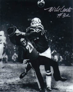 MIKE CURTIS AUTO BALTIMORE COLTS 8X10 PHOTO #4 HITTING THE FAN! RIP