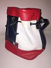 TOMMY HILFIGER Red White Blue BIG LOGO Vintage VTG 90's Purse Bag AWESOME