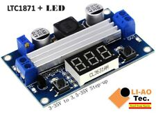 LTC1871 DC DC Step Up Booster Converter 3-35 VDC to 3.5-35 VDC with VoltMeter