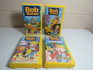 Bob the builder 4 VHS LOT Can we Fix it Bussy Bob & Silly Tool Power Teamwork!