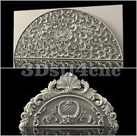 2 3D STL Models Arch Decor Set for CNC Router Carving Machine Artcam aspire