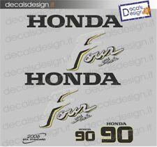 Adesivi motore marino fuoribordo Honda 90 cv carburatori gommone barca stickers