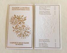 Très jolie carte parfumée Haute Parfumerie De Lancôme 1