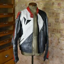 Vintage Womens Dainese Leather Biker Jacket Motorcycle Small 46 Coat