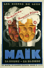 FRENCH BEER, 1929 Vintage Advertising Art Deco Reproduction Canvas Print 20x30