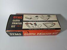 Vintage Dymo Cloth Printer Kit Rare