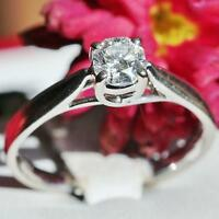 certified 18k white gold 0.50ct octillion cut diamond solitaire engagement ring