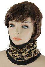 Women Scarf Turtle Neck Warmer Head Cover Outdoor Face Mask Hat Sport Leopard