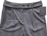 New Womens Marks & Spencer Grey Tapered Trousers Size 18 14 Regular Leg 28 27