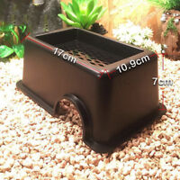 Reptile Hide Box Den Spawning Cave Water Dish Tortoise Snake Lizard Gecko Spider