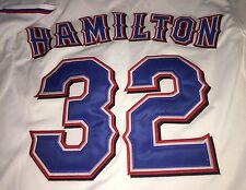 Josh Hamilton Signed Rangers Jersey Brand New With Tags Size 48 Sewn On proof