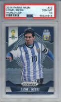 2014 Panini Prizm World Cup Lionel Messi #12 PSA 10 Argentina - QTY