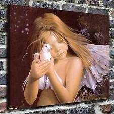 Angel with Dove Painting HD Print on Canvas Home Decor Wall Art Pictures posters