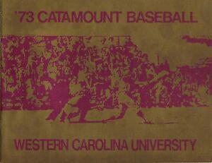 1973 WESTERN CAROLINA CATAMOUNTS BASEBALL MEDIA GUIDE