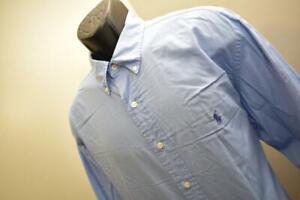 Polo Ralph Lauren Dress Shirt Yarmouth Blue Long Sleeve Mens Size 17 34/35 XL