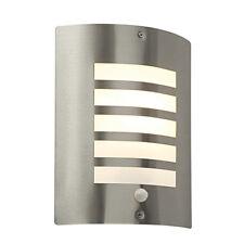 SAXBY BIANCO Stainless Steel IP44 PIR Sensor Outdoor Garden Security Wall Light