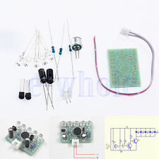 DIY Electronic Kit - Sound activated high brightness blue LED flasher Music EW