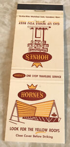 Matchbook Cover Horne's Restaurant Look For The Yellow Roofs