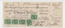 CANADA 1923 BANK CHECK WITH 5x2c ADMIRALS  (SEE BELOW)