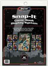(48) BCW-SI-CB-BLK Current Silver Age Comic Book Snap It Binder Sleeves Panels