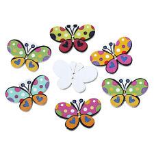 50 Pezzi Bottoni in Legno a 2 fori a forma di Farfalla