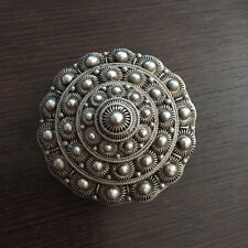 Antique Brooch Dome Solid Silver 950 - French Silver Brooch