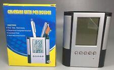 Calendar Organizer Alarm Clock Temperature Pen Holder