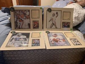 NFL Young/Elway /Smith/ Marino 1994 Kelly Russell Lithograph Print