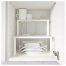 IKEA Variera Shelf Insert Cupboard Kitchen Organiser Stand Stackable White