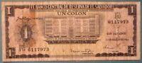 EL SALVADOR 1 COLON NOTE ISSUED 12.03. 1963, P 100