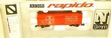 SANTA FE Vagón de mercancía Rojo Brillante Arnold Rapido 0414 N 1:160 emb.orig