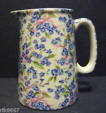 Heron Cross Pottery Forget-Me-Knot Chintz English 1/2 Pint Milk Jug