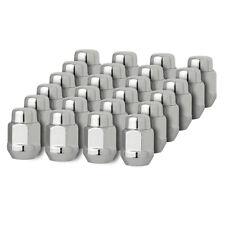 "24 Chrome 12x1.5 Closed End Bulge Acorn Lug Nuts - Cone Seat - 13/16"" Hex"