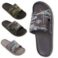Mens Flip Flops Beach summer Slider Slide Mules Sandals Shoe Size UK 3 4 5 6 7 8