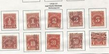 1930 / 1931 Postage Due Issues 1/2 cent to $5.00