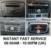 *INSTANT* FORD MONDEO TRANSIT FOCUS SMAX RADIO CODE M OR V SERIAL 6000CD + MORE