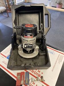 SEARS CRAFTSMAN ROUTER COMMERCIAL MODEL 315-17381 W/ ROUTER BITS AND CASE
