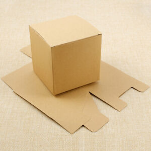 50Pcs Brown Kraft Paper Gift Boxes Wedding Favor for Crafting Gift Ornaments