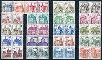 Berlin Burgen und Schlösser postfrisch 21 waagerechte Paare 532-540,587-590 BuS