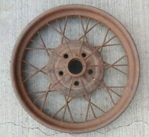 "Early 1928 AR Model A Ford 21"" inch WIRE SPOKE WHEEL Original 5 lug --"