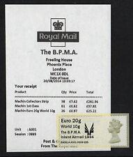 NEW! MACHIN Ma13 AIRMAIL 1934 O/P BPMA Post & Go FDI E20g/W10g DUAL VALUE SINGLE