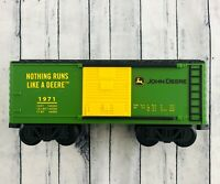 Lionel 11681 Ready to Play John Deere Tender Boxcar G-Scale Very Nice!