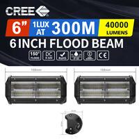 AutoFeel 6inch Cree LED Work Light Bar Flood Beam Lamp Reverse Offroad 4x4 Truck