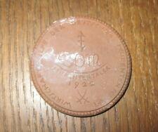 1922 Meissen Porzellan Medaille 30 M Studententaler / Dm ca. 52 mm