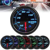 """2"""" 52mm LED Auto Wassertemperaturanzeige Zusatz Instrument mit 7 Farben 12V"""