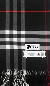 FATHER DAY Uni Sex Designer Check Pashmina Shawl Scarf Wrap Essential UGG Black