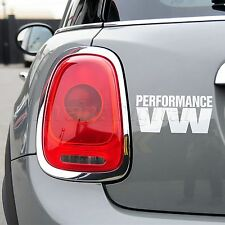 PERFORMANCE VW Character Design Wall Stickers Auto Car/Van/Window EURO JDM Decal