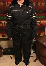 Vtg Sears Work Snowmobile ATV SnowSuit One Piece With Hood Size Tall Med 38-40