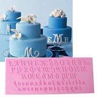 3D Russian Alphabet Letters Silicone Fondant Cake Mold Candy Baking Mould Tool
